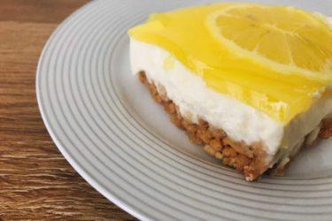 晴れた日にぴったり!さわやかレモンヨーグルトケーキ ( Torta Fredda allo Yogurt al Limone )