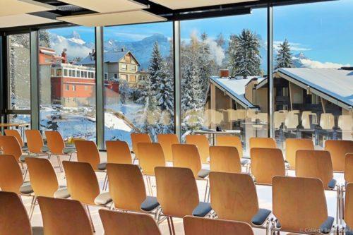 スイスのボーディングスクールの改築画像