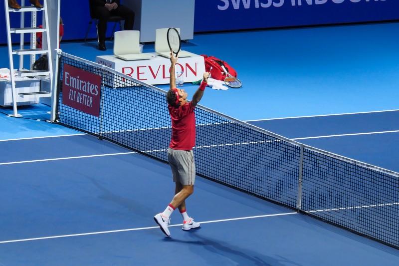 スイス・インドア2019 テニス ロジャー・フェデラー選手優勝の瞬間