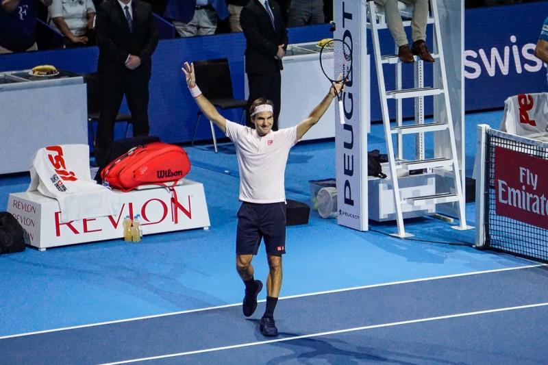スイス・インドア2018 テニス フェデラー選手の優勝の瞬間 スイス情報.com
