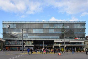 スイスの首都ベルンの駅